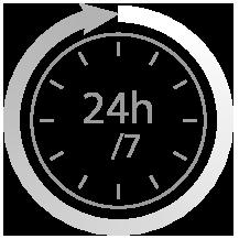 24h sur 24 - 7 jours sur 7